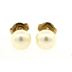 Mikimoto Pearl 18K Yellow Gold Cultured Pearl Earrings