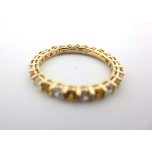 Tiffany & Co. Ring 18K Yellow Gold Sapphire and Diamond Size 4.5