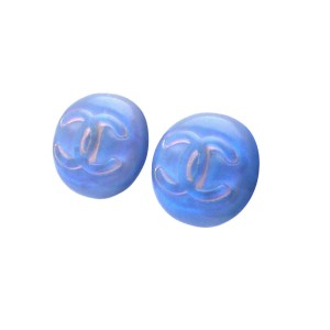 Chanel CC Blue Gripoix Earrings