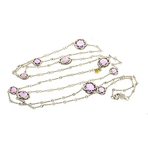 Tacori Sterling Silver Amethyst Necklace