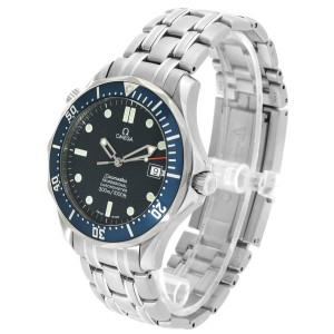 Omega Seamaster 300M Blue Dial Steel Mens Watch 2531.80.00 Card