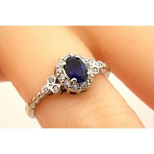 Levian 18K White Gold Sapphire, Diamond Ring Size 6.5