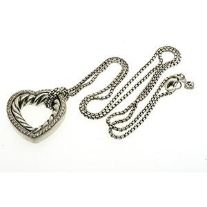 David Yurman Large Pave Cable Heart Diamond Pendant