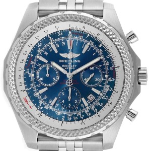 Breitling Bentley Watches >> Breitling Bentley Motors T Blue Dial Chronograph Watch A25363 Box