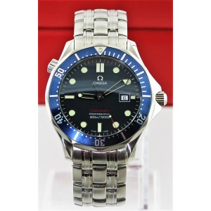 OMEGA SEAMASTER PROFESSIONAL 2221.80 BOND BLUE DIVER QUARTZ LARGE WATCH