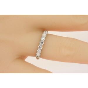 Tiffany & Co. Embrace .57ct Platinum Diamond Wedding Band Ring 7 Stone sz 5.5, 6