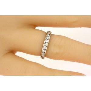 Tiffany & Co. Diamond Channel 1ct Band Ring Full Circle Eternity 3mm