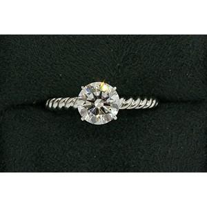 David Yurman Capri Diamond Engagement Ring Platinum 1.31 GIA I SI1 sz 5.5