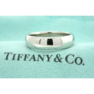 Tiffany & Co Platinum Classic Lucida Wedding Band Ring 6mm Size 8 US