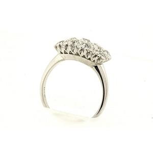 Antique 18k White Gold Traub Orange Blossom 1.44ct Diamond Old Mine Cut Ring 6