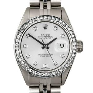 Rolex Datejust 26mm 6916 Women's Silver Diamond Steel 26mm 1 Year Warranty