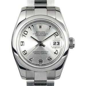 Rolex Datejust 179160 Women's Silver Arabic Steel 26mm 1 Year Warranty