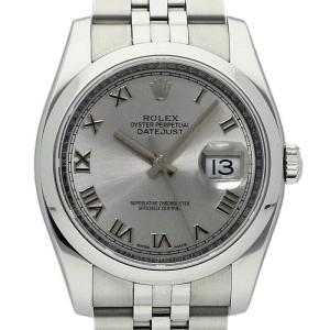 Rolex Datejust 36mm 116200 Unisex Silver Roman Steel 36mm 1 Year Warranty