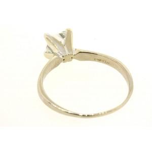 Leo .99 H SI1 Princess Cut Diamond Engagement Ring Solitaire 14k White Gold Sz 7