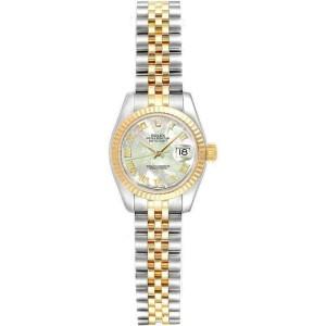 Rolex Datejust 26mm 179173 Women's White MOP Yellow Gold 26mm 1 Year Warranty
