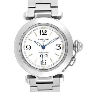 Cartier Pasha C Midsize 35mm Big Date Automatic Steel Watch W31044M7