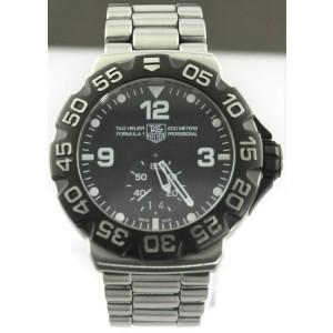ORIGINAL TAG HEUER FORMULA 1 WAH1010.BA0854 GRANDE DATE BLACK STEEL QUARTZ WATCH