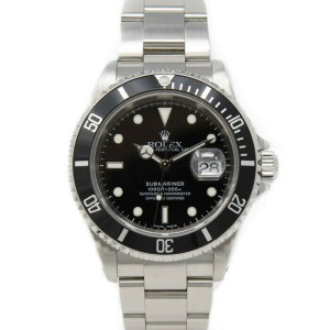 Rolex Submariner 16610 Men's Stainless Steel Automatic Black 1 Year Warranty