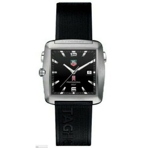 LIMITED TAG HEUER PROFESSIONAL WAE1110.FT6004 TIGER WOODS RUBBER MENS GOLF WATCH