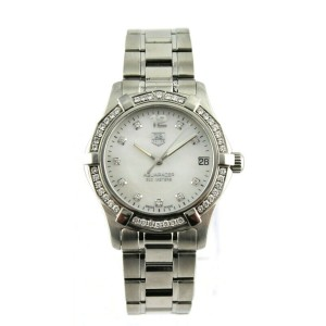 TAG HEUER AQUARACER WAF1313.BA0819 DIAMOND ACCENTED PEARL MIDSIZE LADIES WATCH