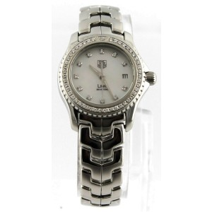 TAG HEUER LADIES LINK WJ131A.BA0572 DIAMOND PEARL CLASSY WATCH BOX & PAPERS