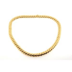 """David Yurman 18k Rose Gold Chain Necklace Choker Collar San Marco Cable 16.5"""""""