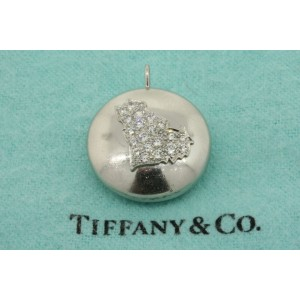 Vintage Tiffany & Co. Platinum Diamond Pendant Cat Cluster Country silhouette