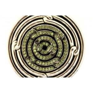 "David Yurman Labyrinth Disc Pendant Enhancer Large 2.5"" Demantoid Garnet $2700"