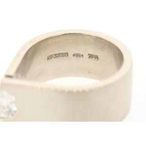 Niessing 18k White Gold .55 G SI1 Diamond Ring GIA Certified sz 5.25 Engagement