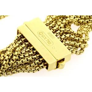 "David Yurman 16 Row Multi Box Chain Bracelet 18k Yellow Gold Rare 7"" $10,000"