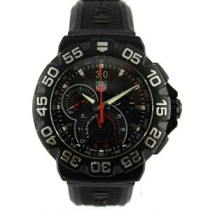 TAG HEUER FORMULA 1 CAH1012.BT0717 CHRONOGRAPH BLACK PVD QUARTZ WATCH & BOX
