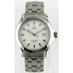 OMEGA SEAMASTER 120M 2511.20 SWISS QUARTZ MENS WHITE LUXURY 36MM CLASSIC WATCH
