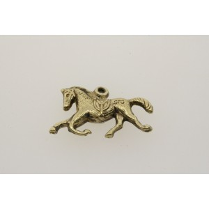Vintage Sterling Silver Charm JMF Racing Race Horse Gold Tone Puffy 3D