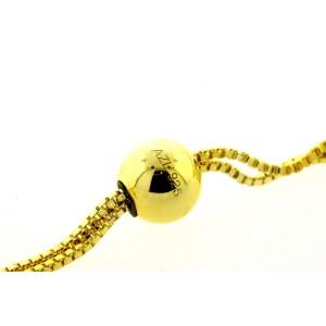 Sterling Silver Gold Plated CZ Tennis Bracelet Station Adjustable Length 3mm