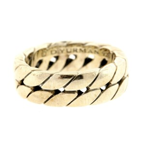 David Yurman Curb Link Chain Ring Band size 8.75 7mm wide SOLD OUT