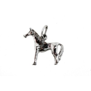 Vintage Sterling Silver Charm Horse 3D