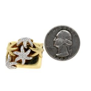 Sonia B. Diamond Starfish Ring 14k Yellow Gold size 7.25