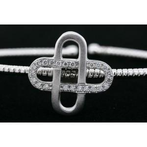 "Simon G Diamond Bracelet Cuff 18k White Gold Modern 6.25"" .23ctw"