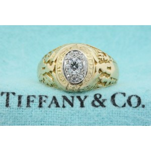 Tiffany & Co. Class Ring Diamond Antique 14k Gold Military Navy West Point