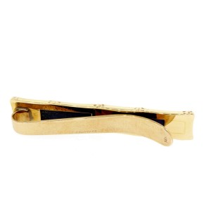 Tiffany & Co. Bamboo Lapis Lazuli Tie Bar Clip 14k Yellow Gold Vintage with Box