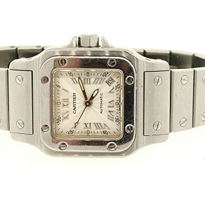 Cartier Santos Galbee Watch 2423 Automatic Stainless Steel Ladies