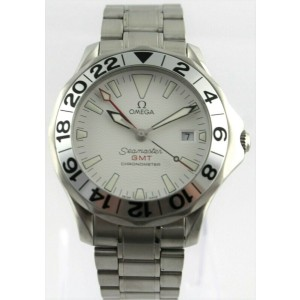 OMEGA SEAMASTER 2538.20 GMT PROFESSIONAL BOND AUTO GREAT WHITE LUXURY MENS WATCH