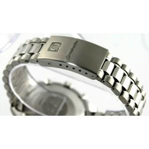 OMEGA MENS SPEEDMASTER 3510.50 AUTOMATIC CHRONOGRAPH BLACK CLASSIC STEEL WATCH