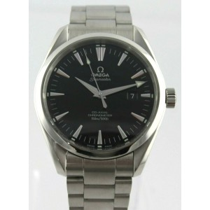 OMEGA SEAMASTER AQUA TERRA 2502.50 AUTOMATIC CO-AXIAL SILVER STEEL MENS WATCH