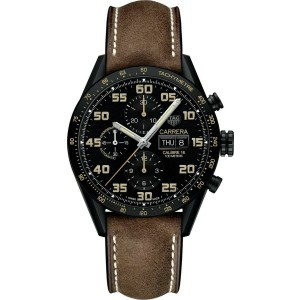 TAG HEUER CARRERA CV2A84.FC6394 LIMITED EDITION 43MM MEN AUTOMATIC LEATHER WATCH