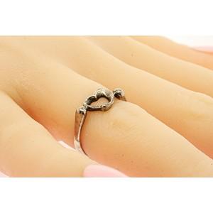 Tiffany & Co. Elsa Peretti Loving Heart Ring Sterling Silver sz 5.5