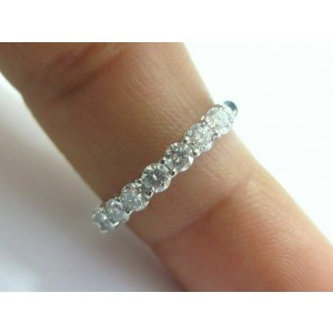 $5,300 Tiffany & Co Embrace 0.57ct Round 7 Diamond Platinum Wedding Band Sz 9