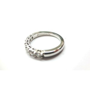 $5,300 Tiffany & Co Embrace 0.57ct Round 7 Diamond Platinum Wedding Band Sz 7