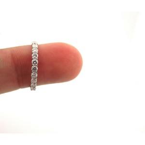 Tiffany & Co Embrace 2.2mm 0.27ct Round Diamond Platinum Eternity Wedding Band 7