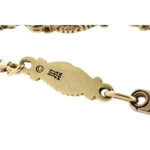 "James Avery Bracelet Interlocking Hands 14k Yellow Gold 7.5"" Friendship"